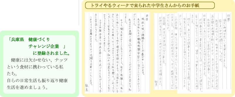 兵庫県健康づくりチャレンジ企業/トライやるウィーク