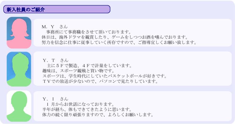 サンスマイル/12号新入社員紹介