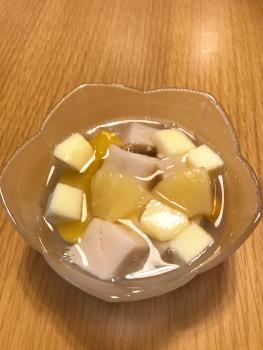 アーモンドみつ豆-完成