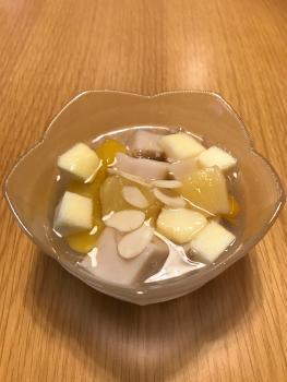 アーモンドみつ豆-盛り付け